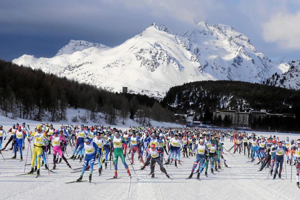 Лыжный марафон в Энгадине (Engadin skimarathon) в Швейцарии