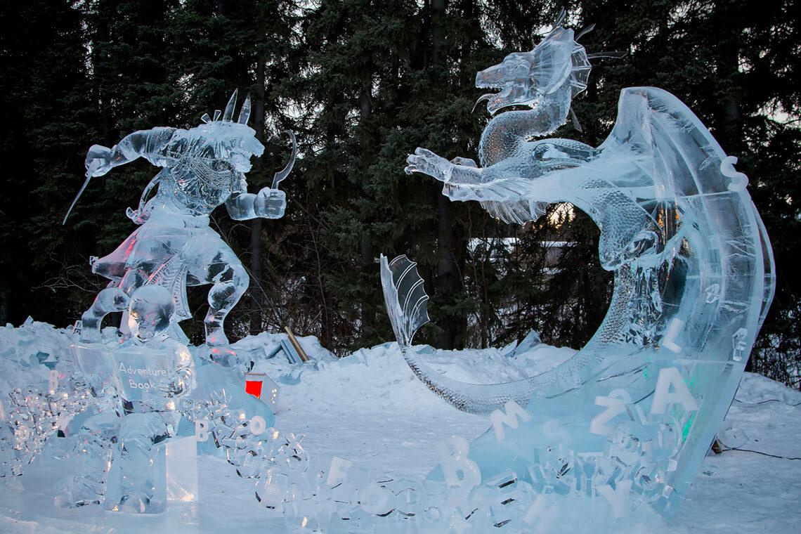 Фестиваль замерзшего света на Аляске