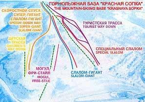 Карта трасс Красная Сопка