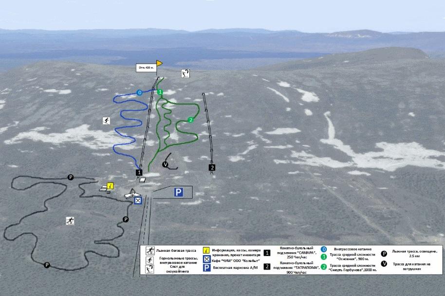 Карта трасс Лопарьстан