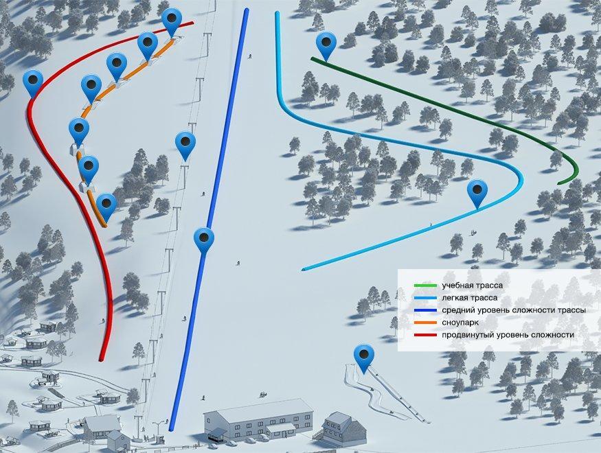Карта трасс Норд Стар