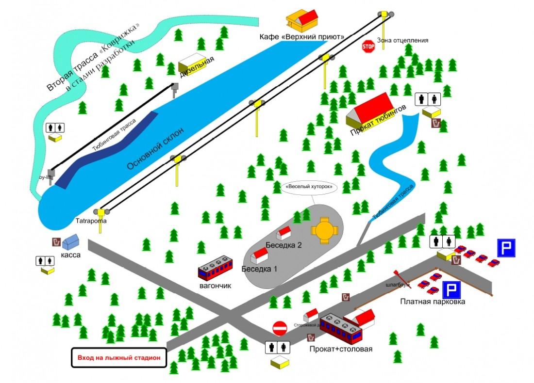 Карта трасс С-Нежная