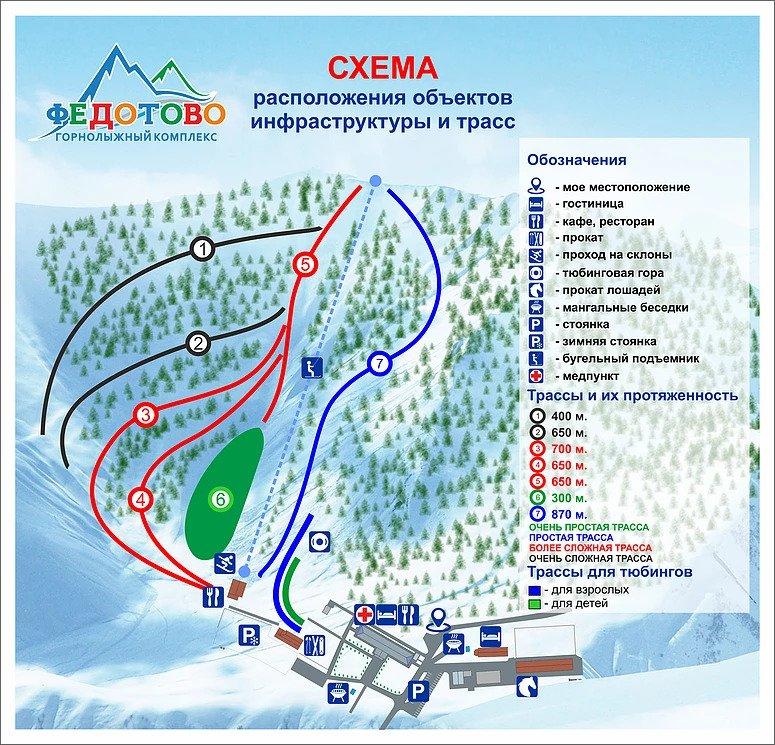 Карта трасс Федотово