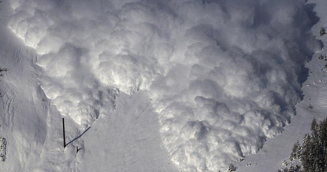 Снежная лавина Швейцария 2015
