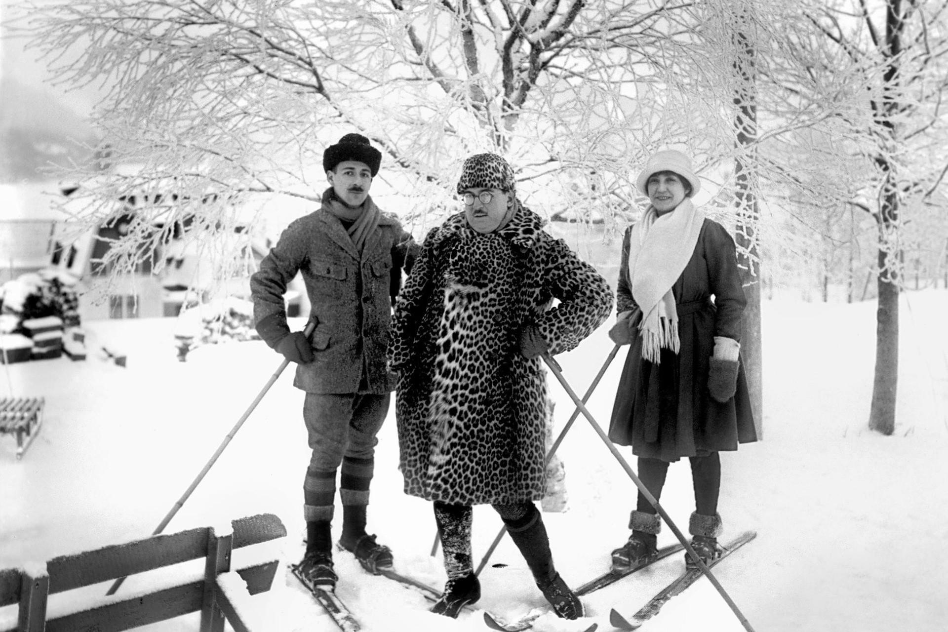 Винтажные фото часть 1: как катались на лыжах 80 лет назад