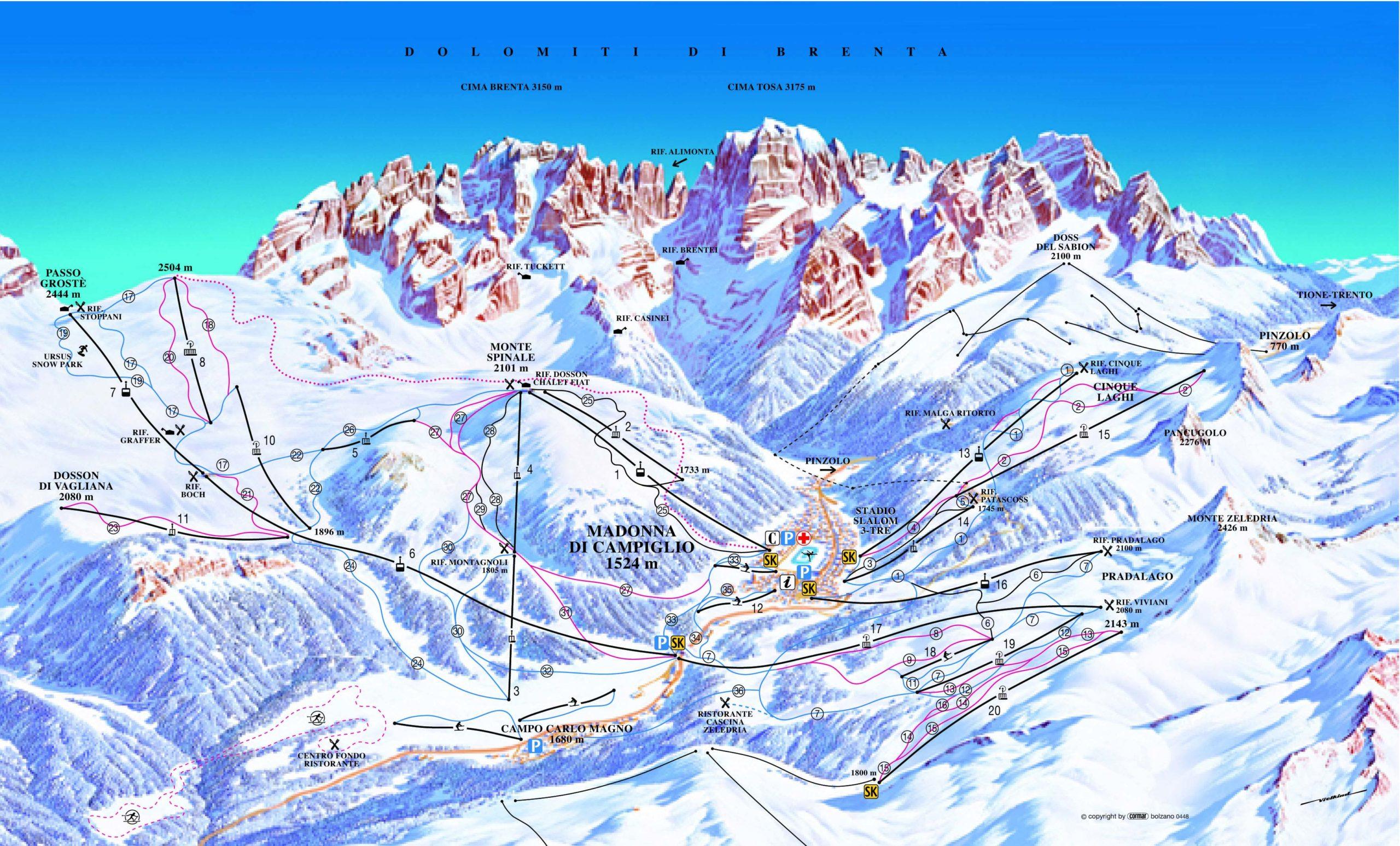 Карта трасс Мадонна ди Кампильо