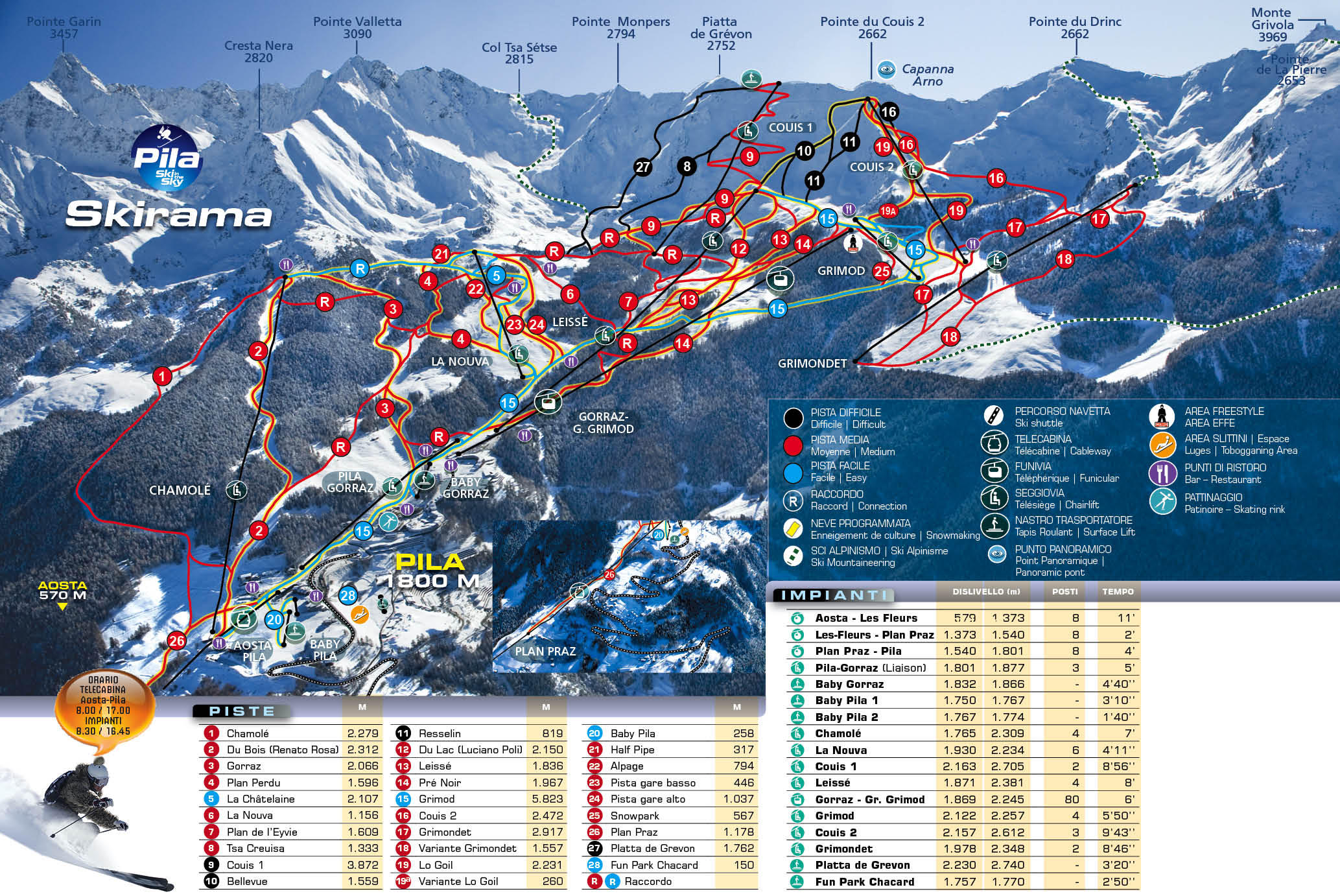 Карта трасс Пила