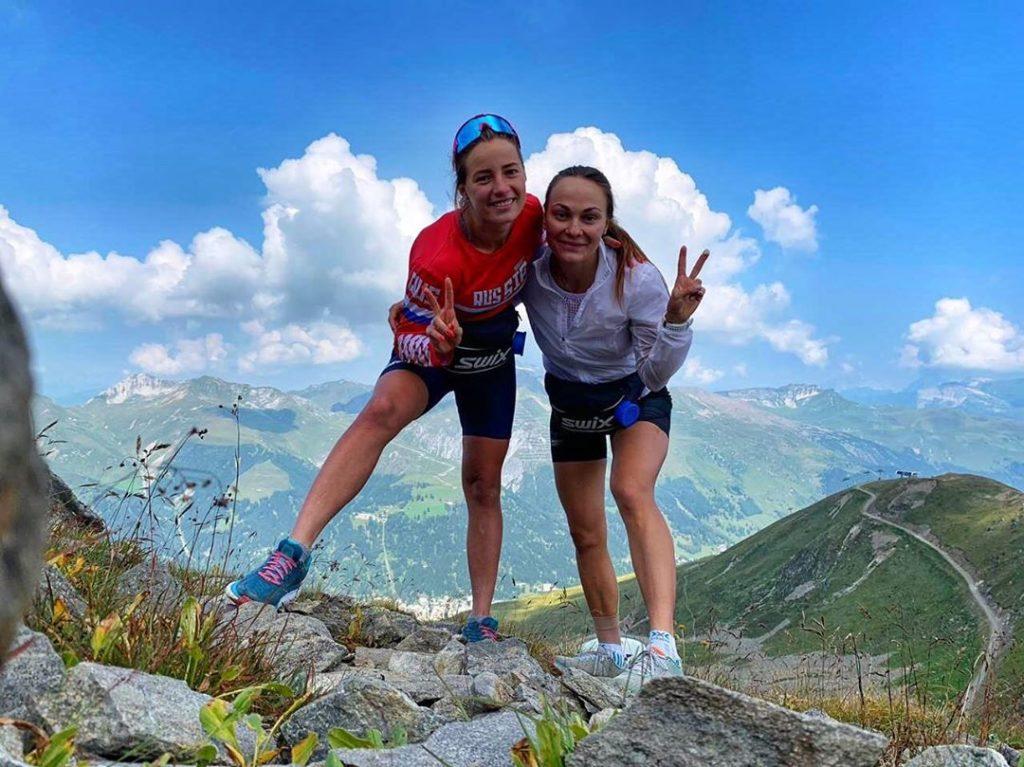 Яна Кирпиченко и Анастасия Седова в горах Швейцарии