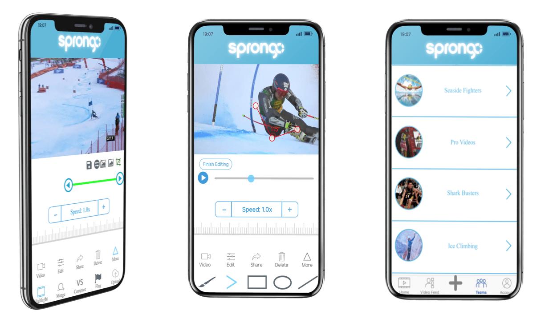 Sprongo — интеллектуальное приложение для тренировок