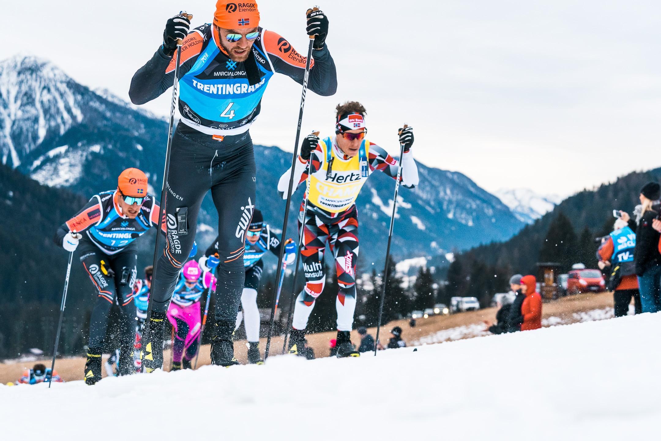 Массовый марафон по беговым лыжам «Марчалонга» в Италии