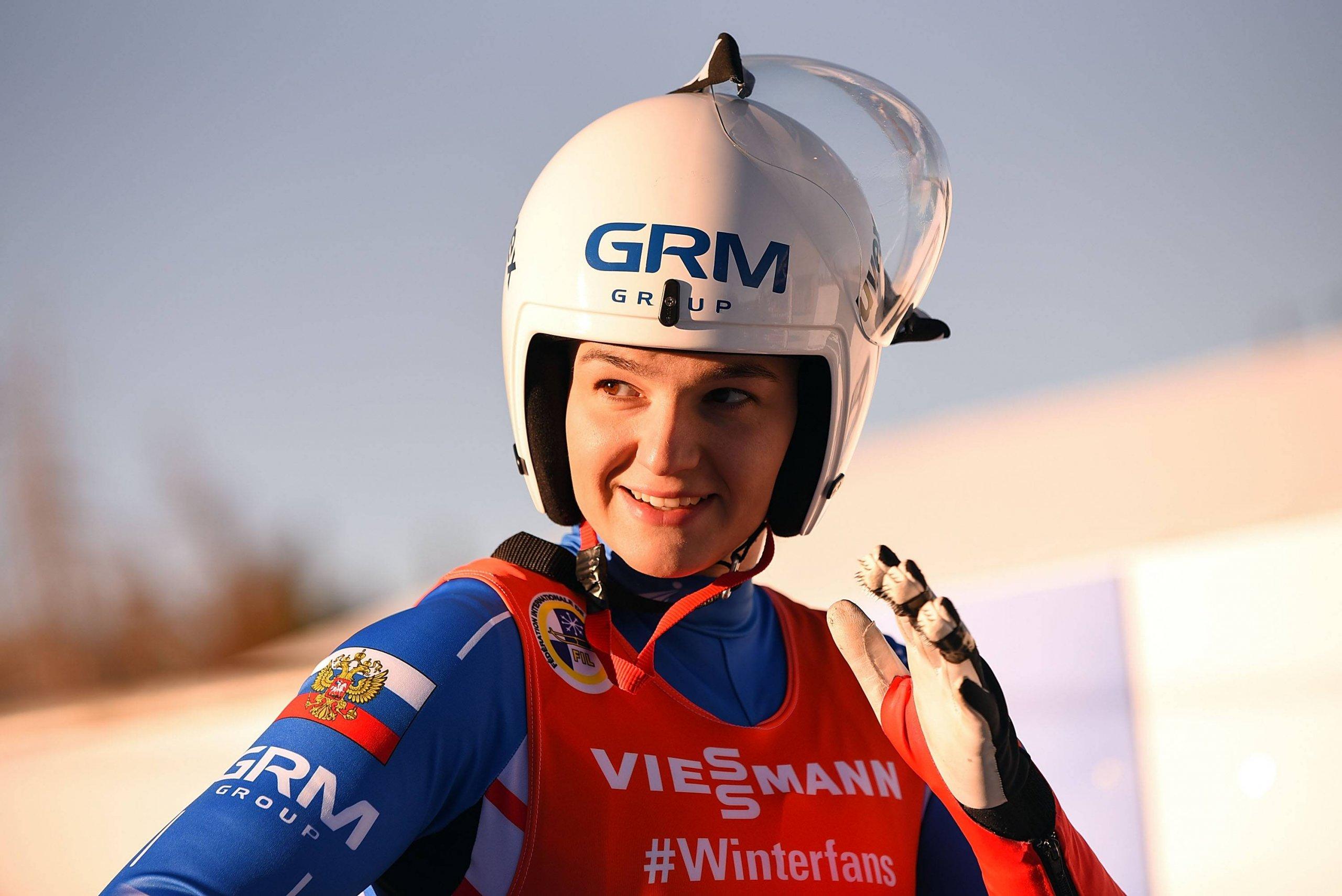 Российская саночница Екатерина Катникова завоевала золото на чемпионате мира в Сочи