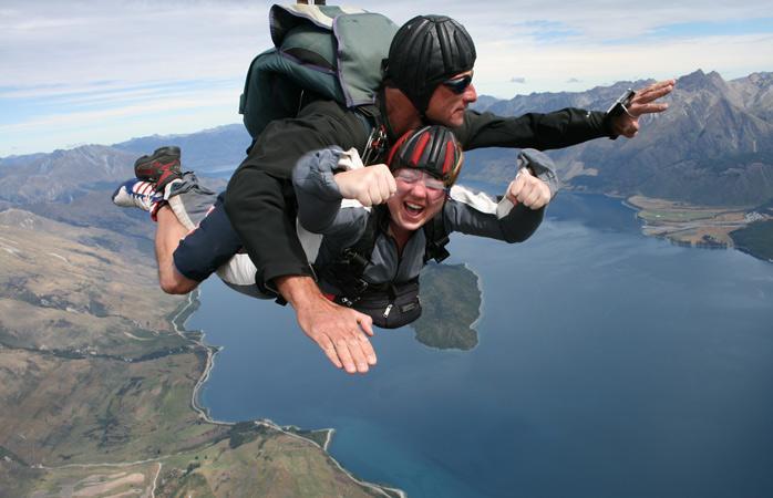Прыжок с парашютом в Квинстауне
