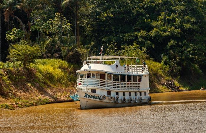 Лодка на Амазонке
